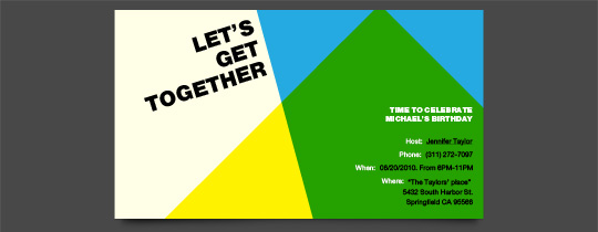 Modern Get-Together Invitation