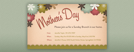 Mother's Day Trees Invitation