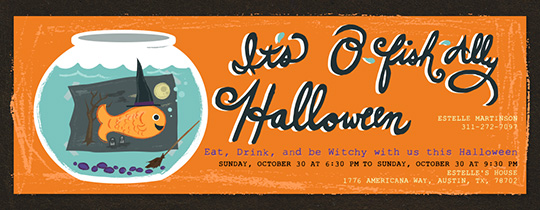 O-Fish-ally Halloween Invitation