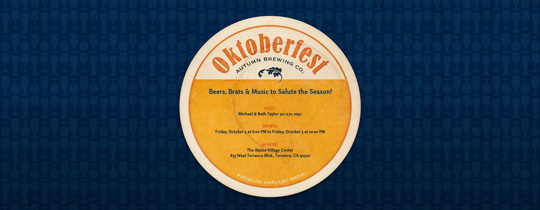 Oktoberfest Coaster Invitation