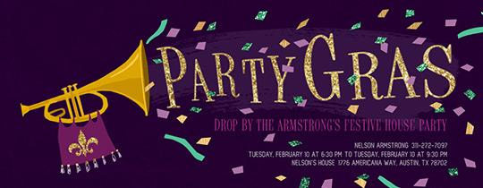 Mardi Gras free online invitations – Mardi Gras Party Invites