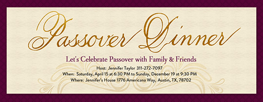 Passover Flourish Invitation