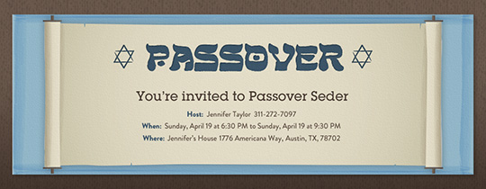 Passover Scroll Invitation