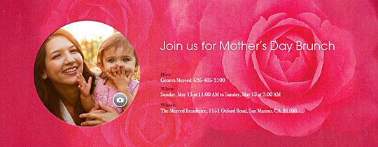 Pink Roses Invitation