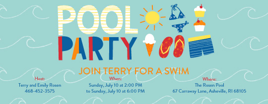 Pool Party free online invitations – Pool Party Invitations