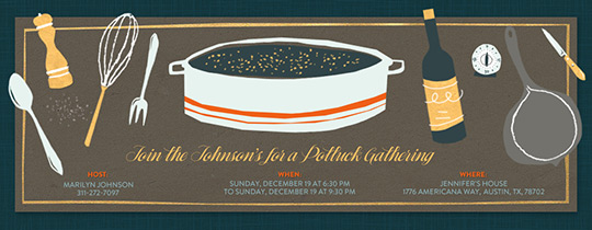 Potluck Tablescape Invitation