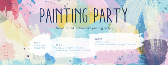 pretty invitation templates