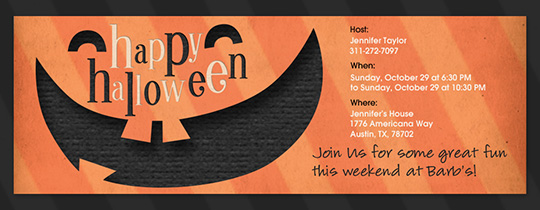 Pumpkin Smile Invitation