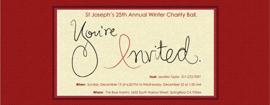 Red Ribbon Invitation