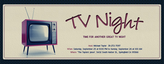 Retro TV Invitation