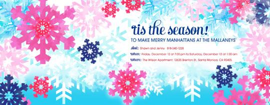 Seasonal Snowflakes Invitation