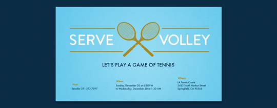 Serve Volley Invitation
