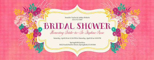 Shower Bouquets Invitation