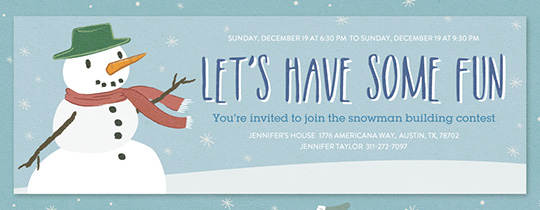Snowy Friends Invitation