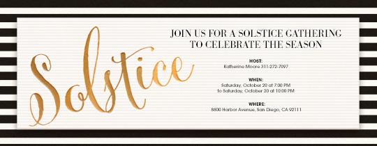 Solstice Invitation