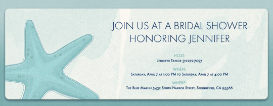 bridal shower invitations evite starfish invitation invitations ecards and party planning ideas from evite