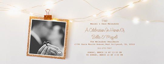 Styled Photo Garland Invitation