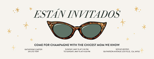 Sunglasses Invitation