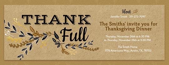 Evitecom Free Online Thanksgiving Dinner Invitations