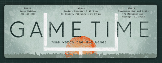 Big game invitations