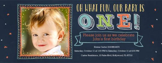 Babys First Birthday Invitation Party Ideas Evite - Birthday invitation for one year baby