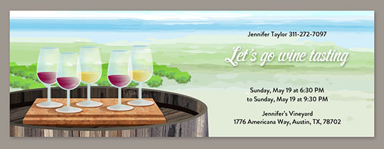 Wine Country Invitation