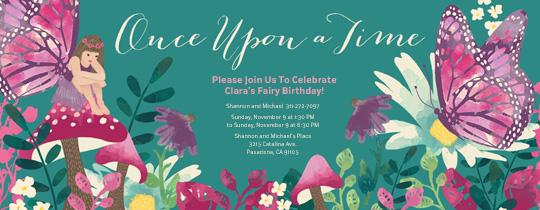 Woodland Fairy Invitation
